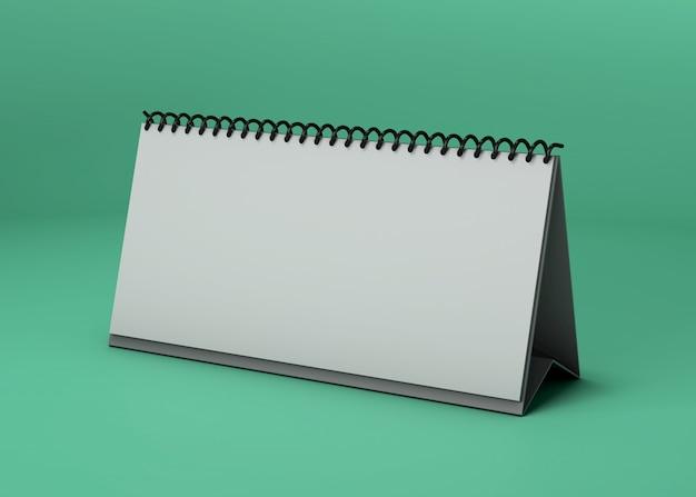 Maquete de estúdio de calendário horizontal