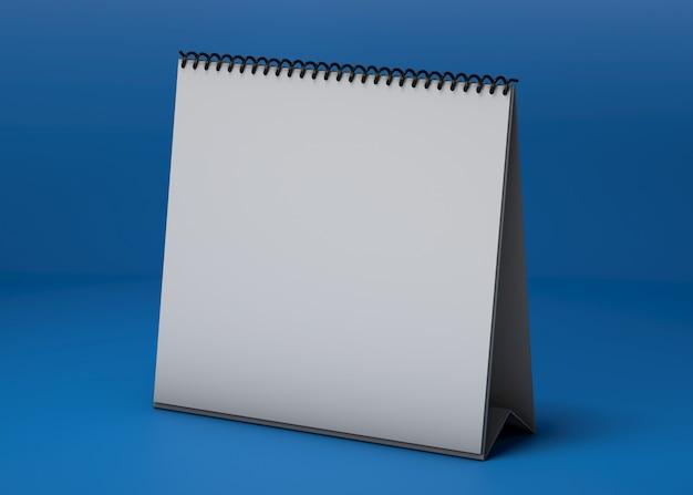 Maquete de estúdio de calendário quadrado