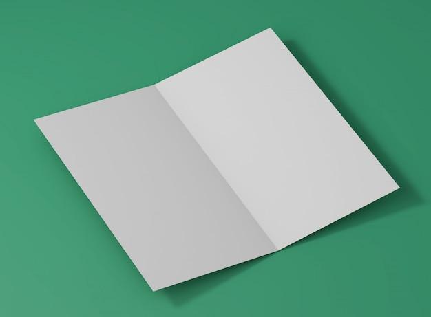 Maquete de estúdio de cartão dobrado elegante