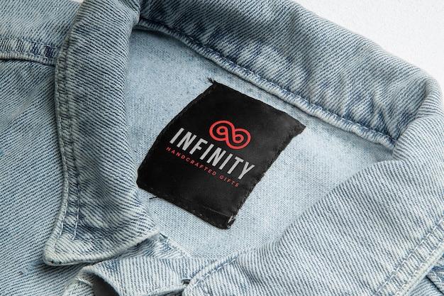 Maquete de etiqueta de jaqueta jeans
