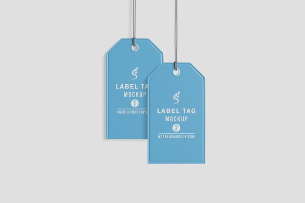 Maquete de etiqueta de pano