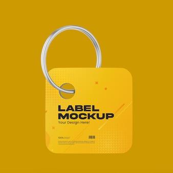 Maquete de etiqueta de plástico fosco 01