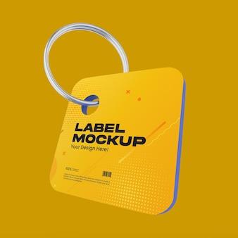 Maquete de etiqueta de plástico fosco 02