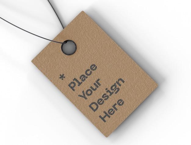 Maquete de etiqueta de preço de etiqueta