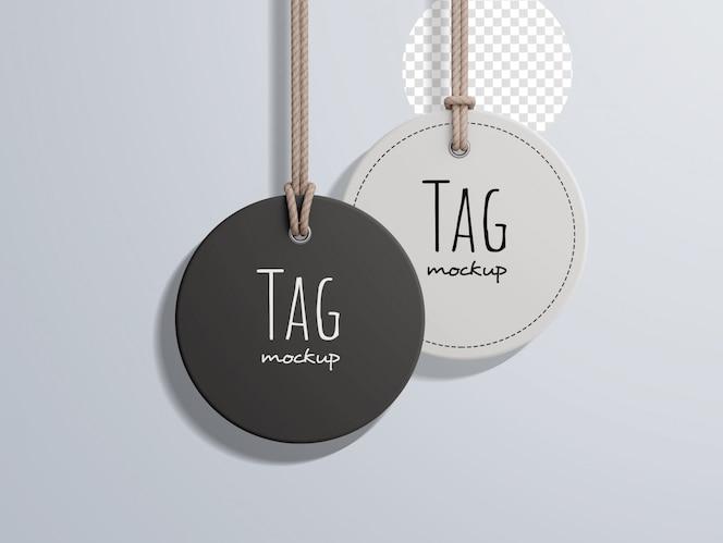 Maquete de etiqueta de preço de moda circular