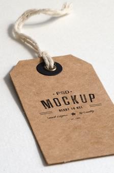 Maquete de etiqueta de preço de papel marrom
