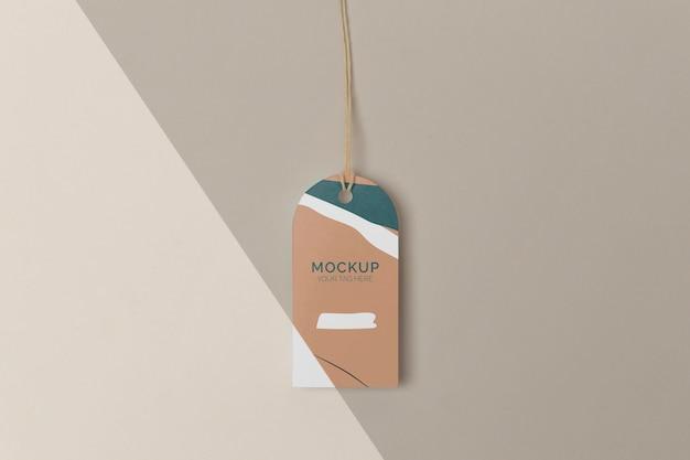 Maquete de etiqueta de produto plana