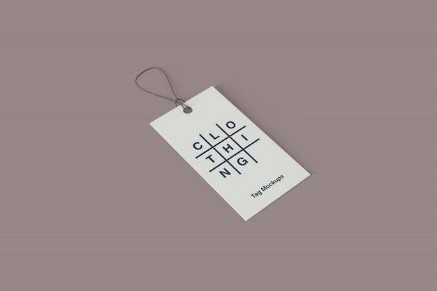Maquete de etiqueta de roupa psd
