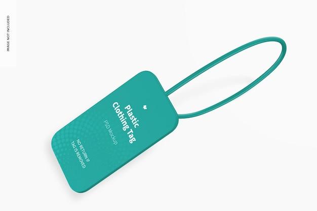 Maquete de etiqueta de roupas de plástico