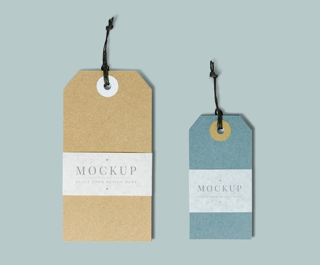 Maquete de etiqueta de roupas de qualidade premium