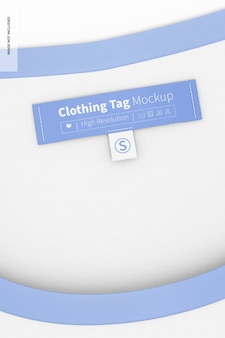 Maquete de etiqueta de roupas, vista frontal