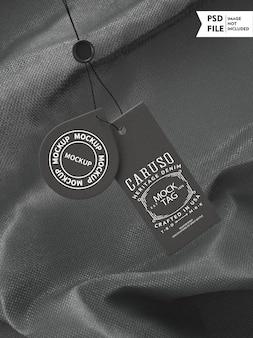 Maquete de etiqueta de roupas