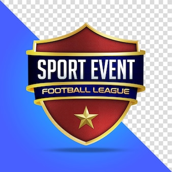 Maquete de evento esportivo com proteção 3d isolada