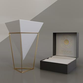 Maquete de exibição de embalagem de joias