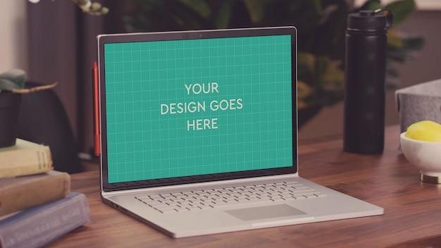 Maquete de exibição de laptop