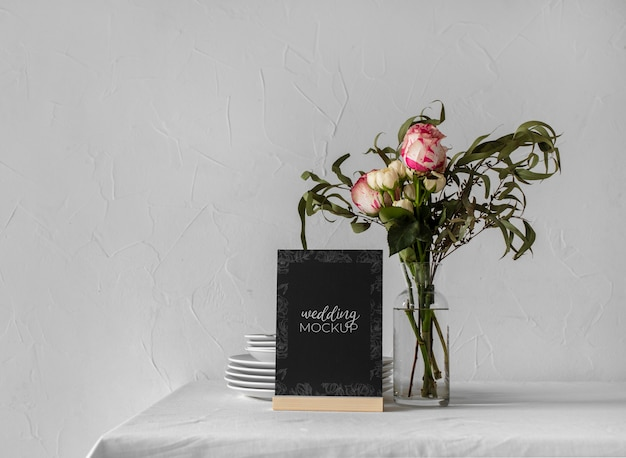 Maquete de exibição de mesa de casamento