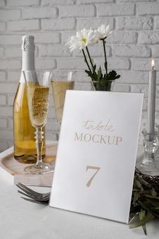 Maquete de exibição de mesa elegante