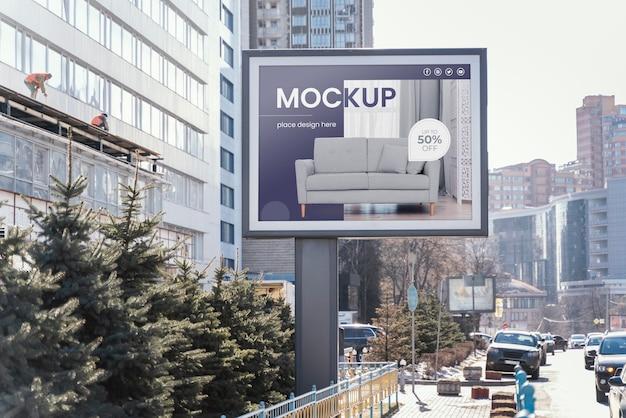 Maquete de exibição de outdoor de rua