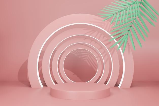 Maquete de exibição de palco de ilustração com renderização 3d