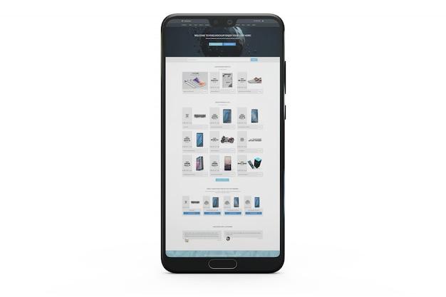 Maquete de exibição de smartphone