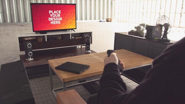 Maquete de exibição de televisão