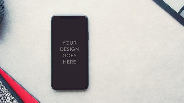 Maquete de exibição do telefone