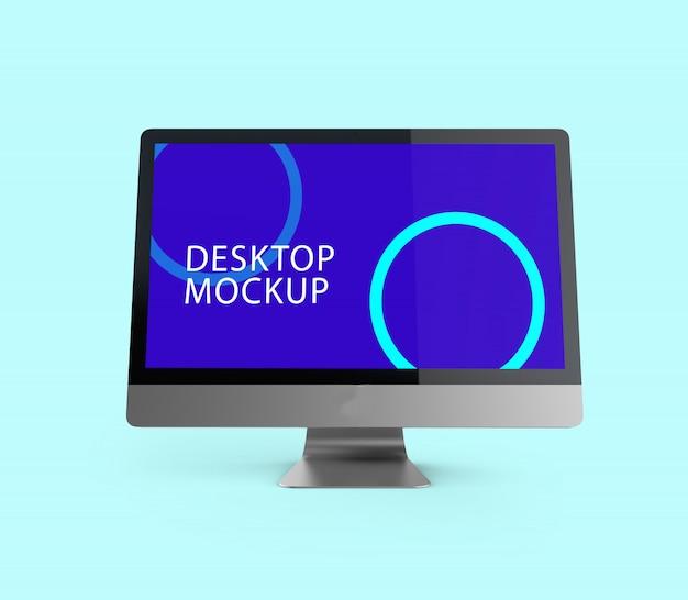 Maquete de exibição premium para desktop