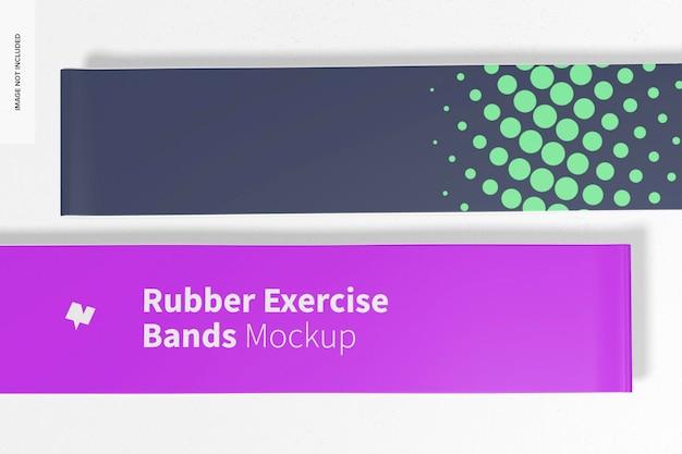 Maquete de faixas de borracha para exercícios, close-up