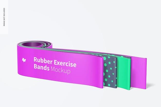 Maquete de faixas de borracha para exercícios