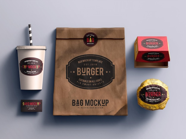 Maquete de fast food
