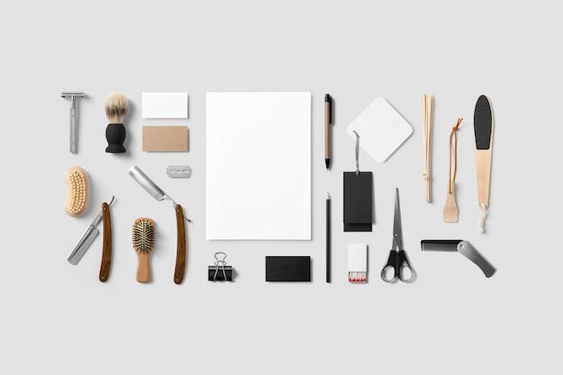 Maquete de ferramentas de beleza