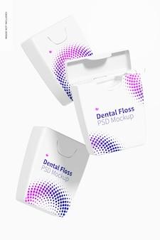 Maquete de fio dental flutuante