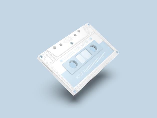 Maquete de fita cassete retrô