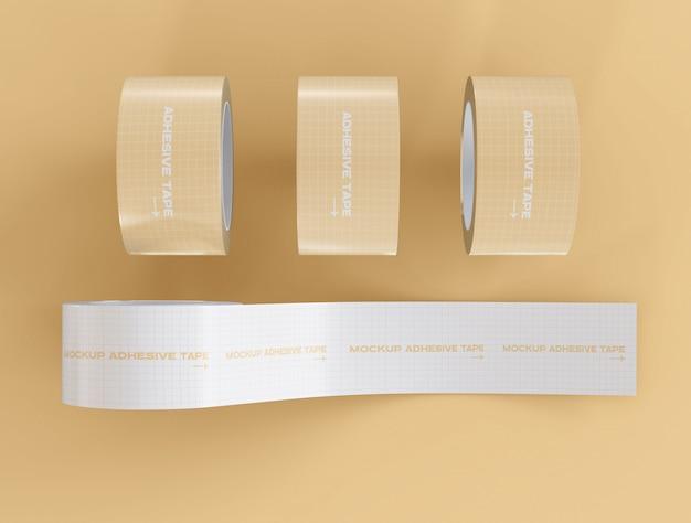Maquete de fitas adesivas
