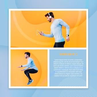 Maquete de fitness com imagem