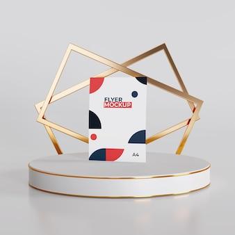Maquete de flyer com design simples de pódio