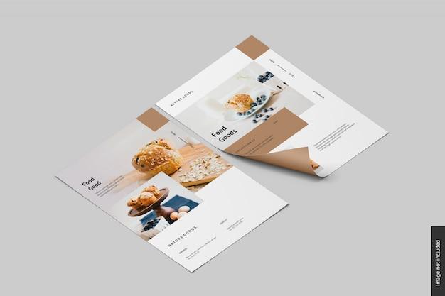 Maquete de flyer criativo Psd Premium