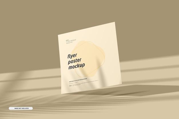 Maquete de flyer quadrado com sobreposição de sombra