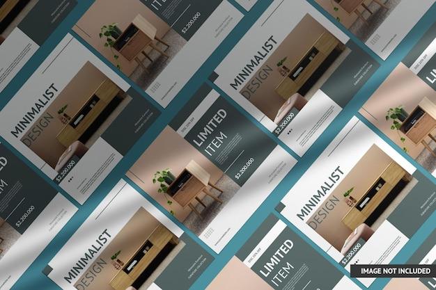 Maquete de flyer quadrado