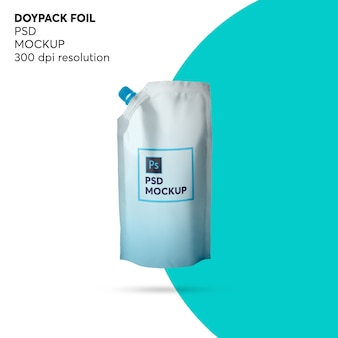 Maquete de folha de doypack