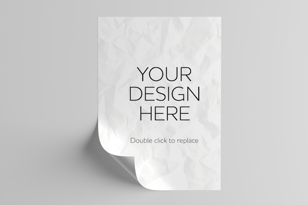 Maquete de folha de papel a4