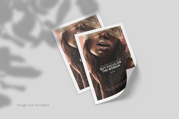 Maquete de folheto a4 com sombra