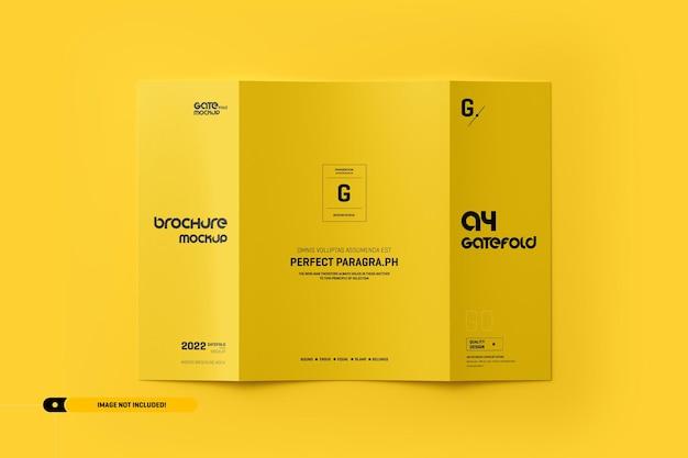 Maquete de folheto a4 Psd Premium