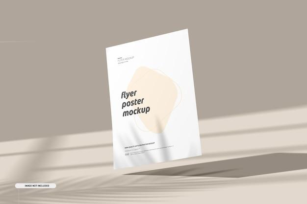 Maquete de folheto com sobreposição de sombra