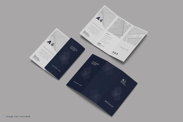 Maquete de folheto com três dobras Psd Premium