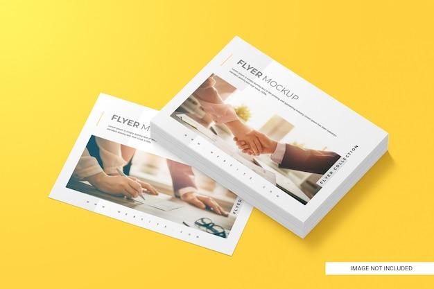 Maquete de folheto criativo
