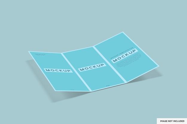 Maquete de folheto de 3 dobras isolada