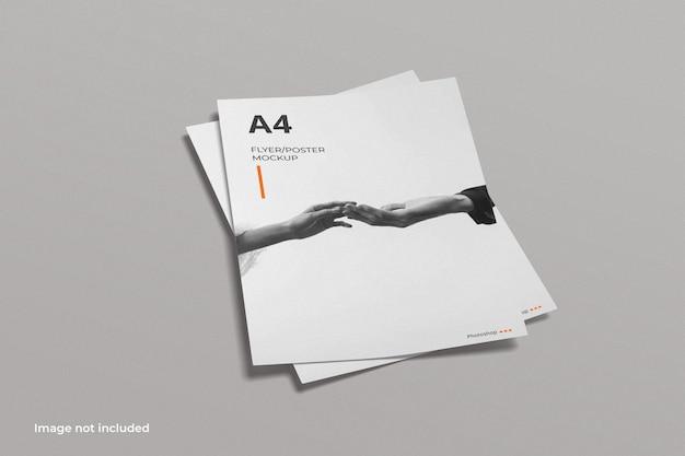 Maquete de folheto de panfleto a4
