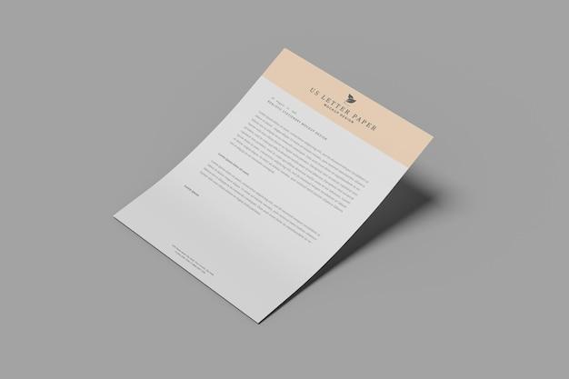 Maquete de folheto de papel para nós