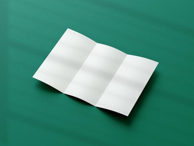 Maquete de folheto de três dobras